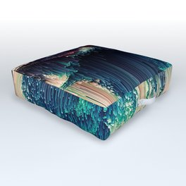 Cave of Wonders - Abstract Glitch Pixel Art Outdoor Floor Cushion