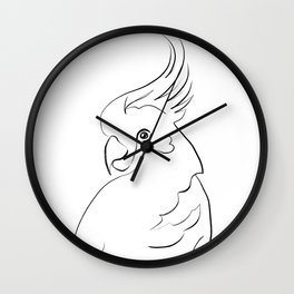 Parrot one line drawing Wall Clock