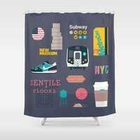 nyc Shower Curtains featuring NYC by 914k