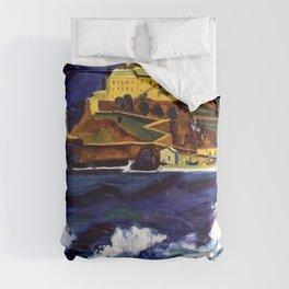 Cinque Terre, Italy Convent von Monterosso al Mare by Hermann Max Pechstein Comforters