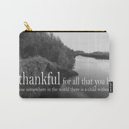 Be Thankful Carry-All Pouch