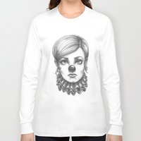 clown Long Sleeve T-shirts featuring Clown by Robin Ewers