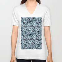 paisley V-neck T-shirts featuring Paisley by Jada K McGill