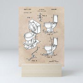 patent art Fields Toilet seat lifter 1967 Mini Art Print