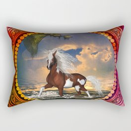 Wonderful horse on the beach Rectangular Pillow