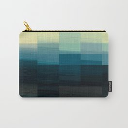 Modern Ombre Tiled Pattern Design Carry-All Pouch