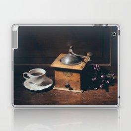 Vintage still life with coffee grinder Laptop & iPad Skin