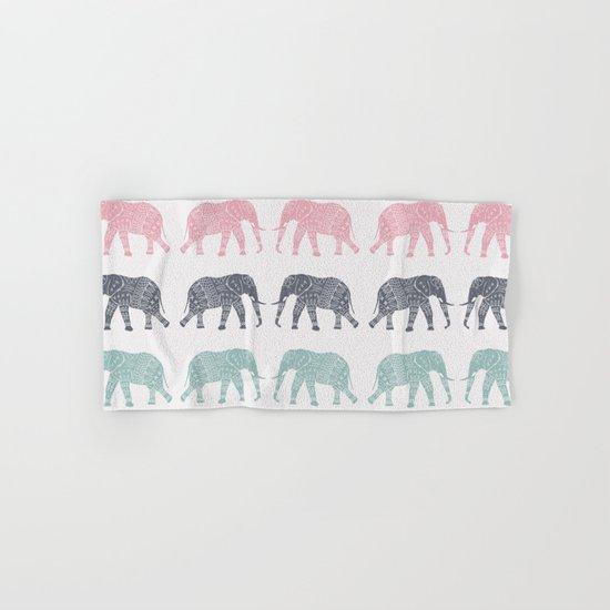 Elephant Pattern Hand & Bath Towel