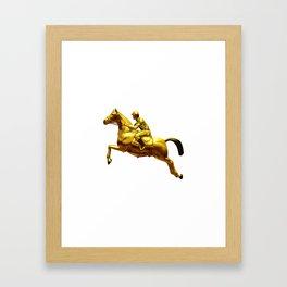 Horse Rider Gold Framed Art Print