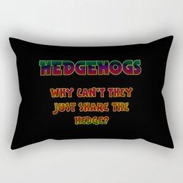 "Funny One-Liner ""Hedgehog"" Joke Rectangular Pillow"