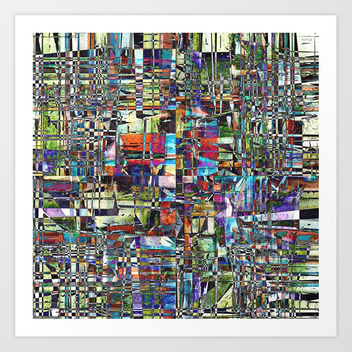 Colorful Chaotic Composite Art Print