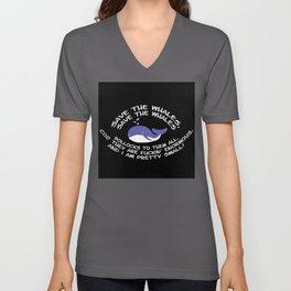 Save The Whales, Bollocks! Unisex V-Neck