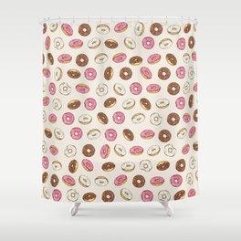 ALL the donuts! Rainbow on Cream Shower Curtain