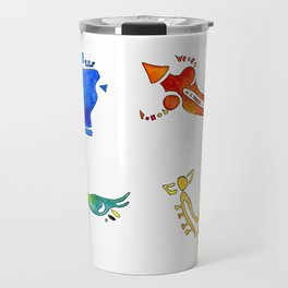 Zelda Breath of The Wild Watercolor Painting Travel Mug