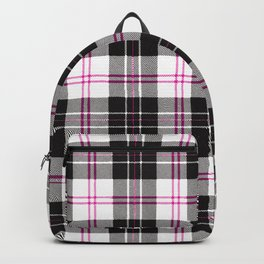 Rustic Plaid Pattern: Pink Backpack