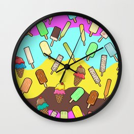 Ice Cream Treats Wall Clock