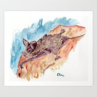 bat Art Prints featuring Bat by Elena Sandovici