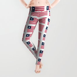 Flag of liberia-liberian,liberiano,pepper coast,kpelle,Bassa,Monrovia Leggings