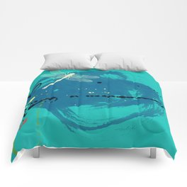 Turquoise Dragonfly Comforters
