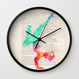 Yoga Book. The Second Lesson - Meditation and inspiration Wall Clock