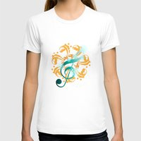 music notes T-shirts featuring Music Notes  by HK Chik