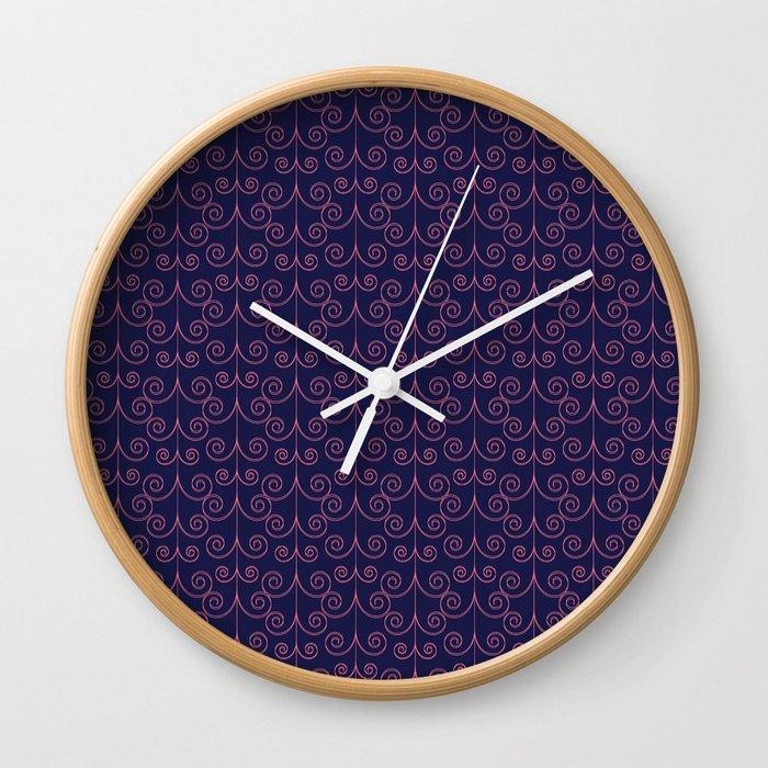 Curly Pattern Wall Clock