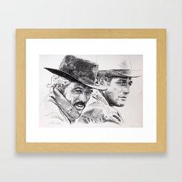 butch cassidy and the sundance kid Framed Art Print