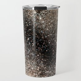 Sparkling GOLD BLACK Lady Glitter #3 #decor #art #society6 Travel Mug