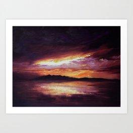 Arran Sunset Art Print