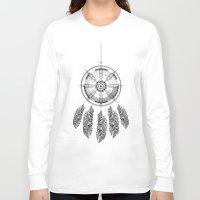 dream catcher Long Sleeve T-shirts featuring Dream catcher by Daniac Design