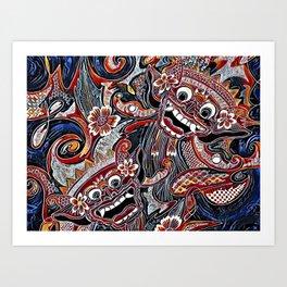 Barong Bali Femme Art Print