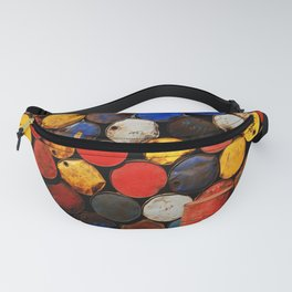 Gasoline Rusty Tin Cans Pattern Fanny Pack