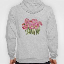 Pink Gerbera Daisy watercolor Hoody