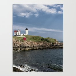 Nubble Lighthouse in Summer Poster