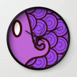 Niji Sakana (Purple) Wall Clock