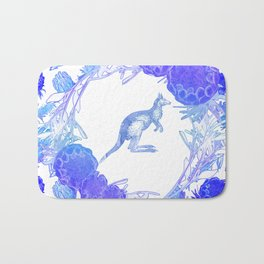 Beautiful Australian Floral print with Kangaroo Bath Mat