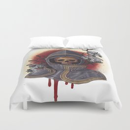 Chivalry in Thorns Duvet Cover
