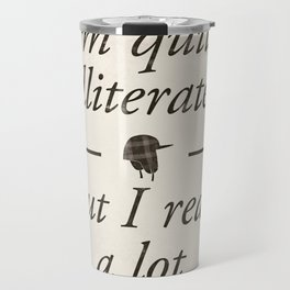 Salinger's The Catcher in the Rye - Literary quote art, bookish gift, modern home decor Travel Mug