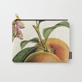 A peach plant - vintage illustration Carry-All Pouch