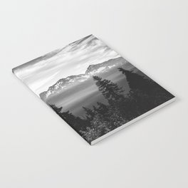 Morning in the Mountains Black and White Notebook