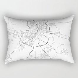 Minimal City Maps - Map Of Grodno, Belarus. Rectangular Pillow