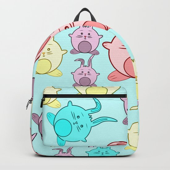 Colorful Easter bunnies Backpack