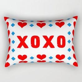 Red Hugs and Kisses Rectangular Pillow