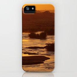 Golden hour in Africa iPhone Case