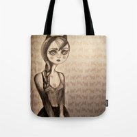 catwoman Tote Bags featuring Catwoman by Anna Kavehmehr
