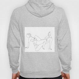 Sensual Lesbian sex Lovers Minimalist Line Drawing Hoody