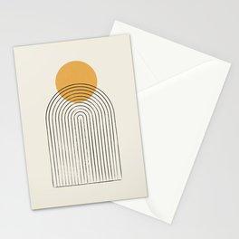 Gold Sun rainbow mountain Stationery Cards