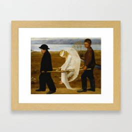 1903 Classical Masterpiece 'The Wounded Angel' by Hugo Simberg Framed Art Print