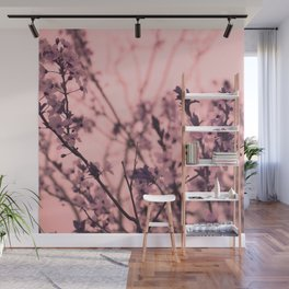 Pink Cherry Blossom Wall Mural