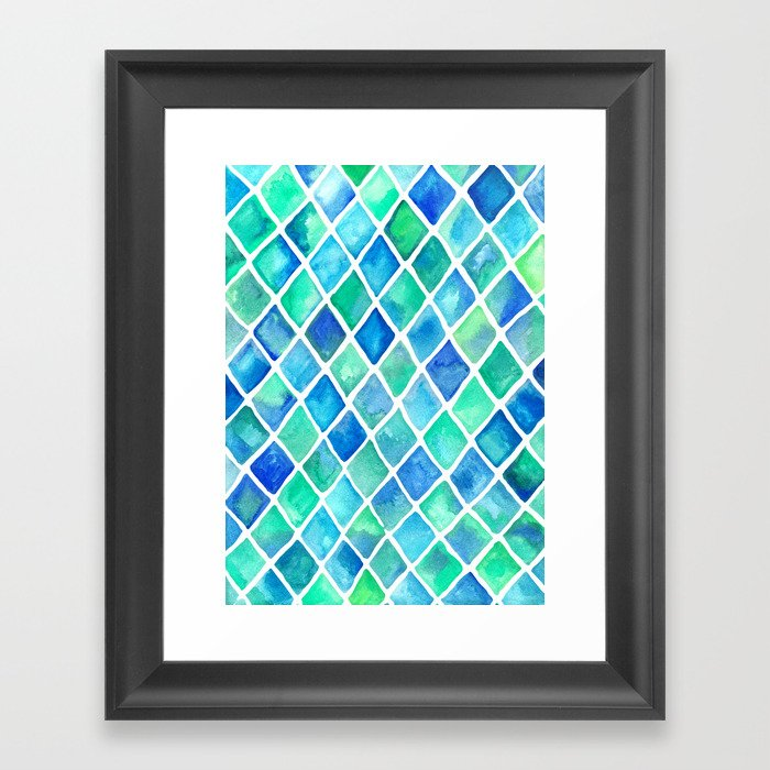 Hand Painted Cobalt Blue Amp Emerald Green Watercolor